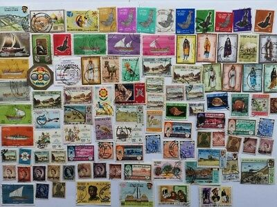 100 Different Muscat and Oman Stamp Collection