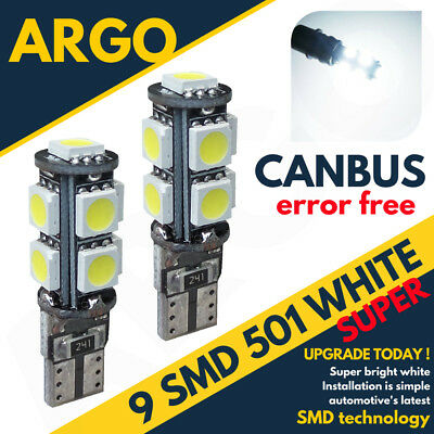 Ford Focus Mk3 11-On Bright Canbus Led Side Light 501 W5W T10 9 Smd White Bulbs
