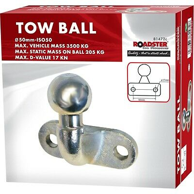 Tow Ball 50mm-ISO50 Universal Coupling 3500kg for Tow Bar Hitch Caravan Trailer