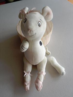 """American Girl 2002 Angelina Ballerina 10"""" Plush Mouse Doll Moving/Jointed Limbs"""