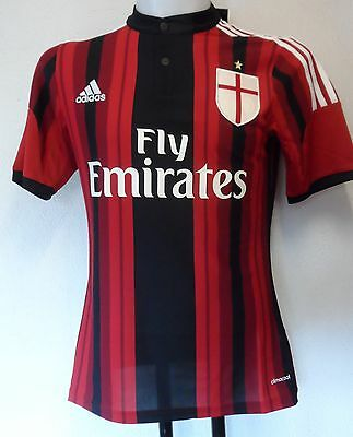 Ac Milan 2014/15 S/s  Home Shirt By Adidas Adults Size Extra/small Brand New