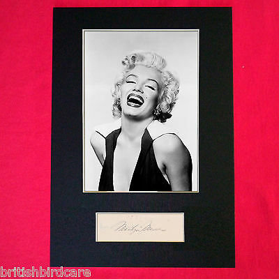 MARILYN MONROE Autograph Mounted Signed Photo RE-PRINT A4 218