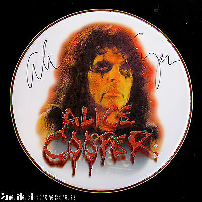 "ALICE COOPER-A Beautiful Autographed 14"" DRUMHEAD-W/Full Letter Of Authenticity"