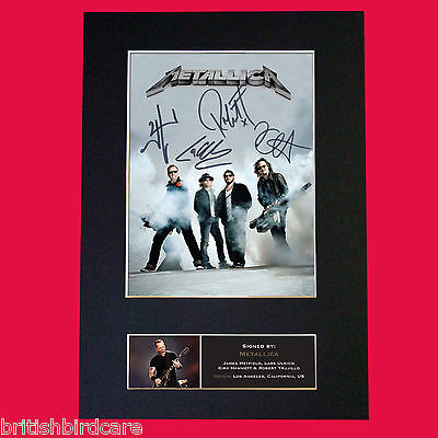 METALLICA Autograph Mounted Signed Photo Reproduction Print A4 470