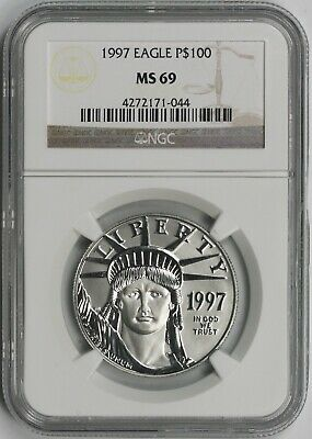 1997 Statue of Liberty One-Ounce Platinum American Eagle $100 MS 69 NGC 1 oz