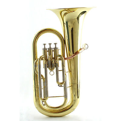 Perfect Jr-High  Series Euphonium Gold lacquer with trim 3 piston Monel