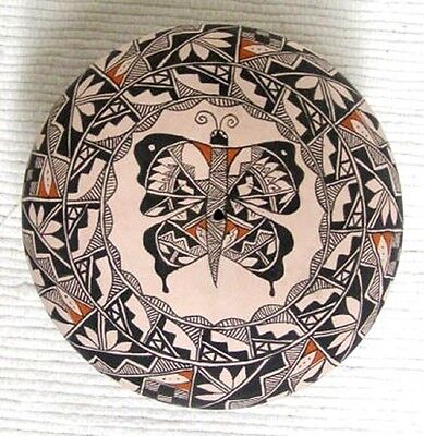 Beautiful Acoma Indian Handcoiled Handpainted Seed Pot Pottery by Leland Vallo