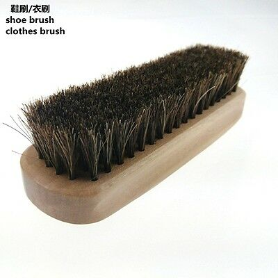 Horse Hair Brush Shoe Polish Boot Leather Polishing Care Clean Buffing Shine