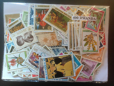 400 Different Rwanda Stamp Collection