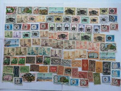100 Different Saudi Arabia Stamp Collection