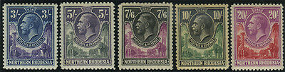 Northern Rhodesia, SG 1/17, 1925 set of 17 values to 20/- fine mint complete, di