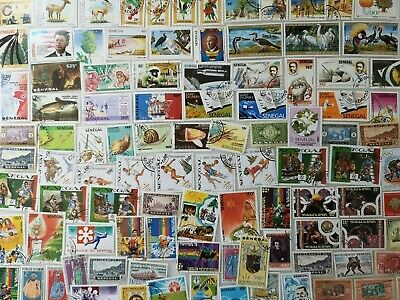 200 Different Senegal Stamp Collection