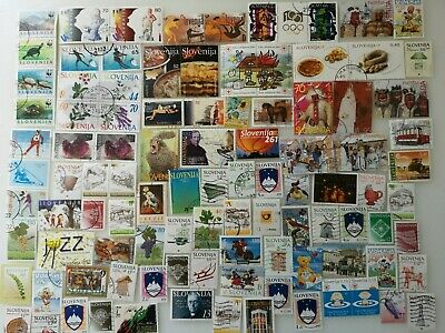 300 Different Slovenia Stamp Collection