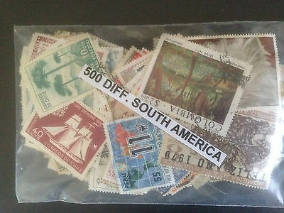 1500 Different South America Stamp Collection