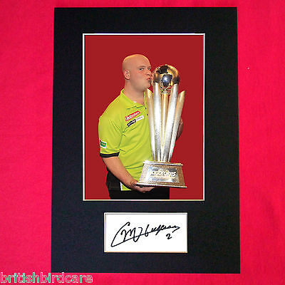 MICHAEL VAN GERWIN darts Autograph Mounted Signed Photo RE-PRINT A4 413