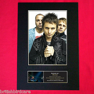 MUSE Mounted Signed Photo Reproduction Autograph Print A4 195