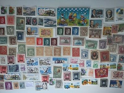 100 Different Ukraine (All Periods) Stamp Collection