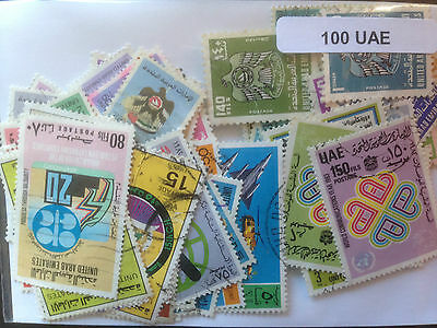 200 Different United Arab Emirates (only) Stamp Collection