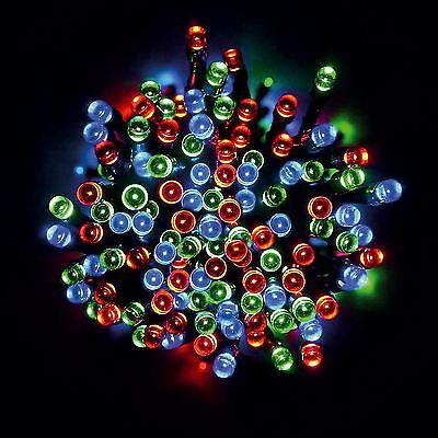 100 Led Multi Coloured Solar Powered Fairy String Lights Garden Party Xmas