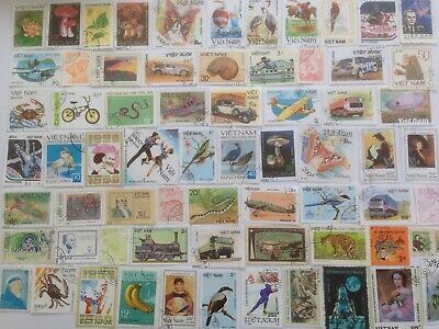 500 Different Vietnam Stamp Collection