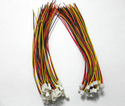 20 Pairs Micro JST 1.25 3-Pin Male & Female Connector Plug Wires Cables 100mm
