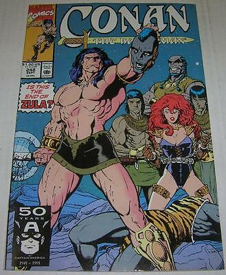 CONAN THE BARBARIAN #248 (Marvel Comics 1991) Decapitation cover (FN/VF) ZULA