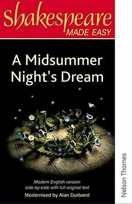 Shakespeare Made Easy - A Midsummer Night's Dream By Alan Durband