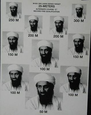 2002 Bin Laden Army M16A1 Rifle Target Practice Poster mx525-TN5KLH