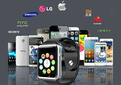 W8 Bluetooth Smart Watch For Android HTC Samsung iPhone iOS Camera SIM Slot UK!!