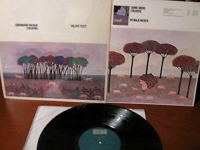 EBERHARD WEBER -Colours silent feet  LP - Ecm -w/insert-made in U.S.A.-cut out
