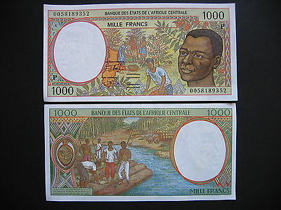 CENTRAL AFRICAN STATES (Chad)  1000 Francs 2000  (P602Pg)  UNC