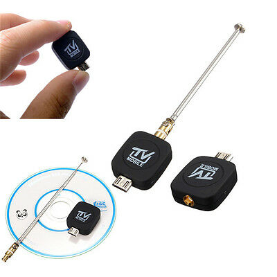 Micro USB DVB-T Digitale TV Mobile Receptor para Android Tablet PC Samsung Negro