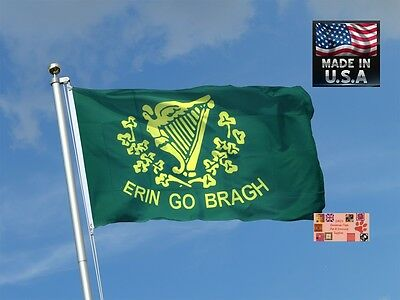 ERIN GO BRAGH Irish IRELAND FOREVER In/outdoor Super-Poly FLAG BANNER*USA MADE