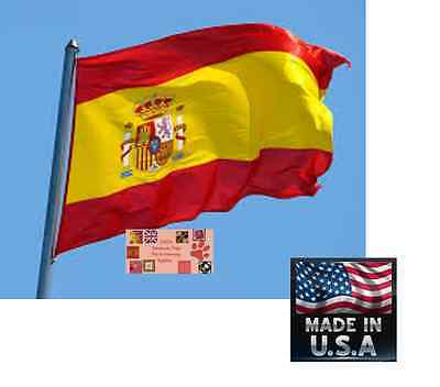 SPAIN Spanish 3x5 ft Heavy Duty In/outdoor Super-Poly FLAG BANNER*USA MADE