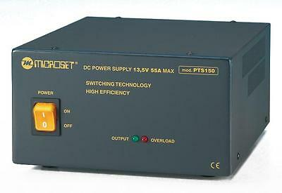 Stabilized DC switching power supply 13.8V 50A 24/24h - Microset PTS150