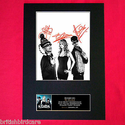 N DUBZ Tulisa Dappy Mounted Signed Photo Reproduction Autograph Print A4 121