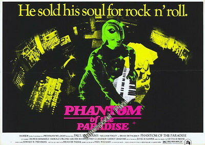 Reproduction poster PHANTOM OF THE PARADISE - from PALMA - Paul WILLIAMS