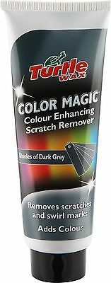 Turtle Wax Colour Magic Enhancing Scratch Remover Paint Restorer Dark Grey 150g
