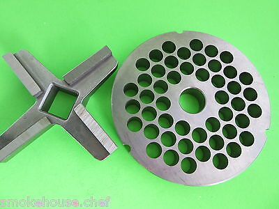 #52 with 12.0 mm holes Meat Grinder disc plate AND knife for BIRO Berkel Hobart