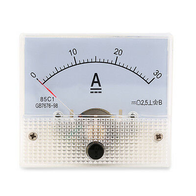 DC 30A Analog Ammeter Panel AMP Current Meter 0-30A DC not Need Shunt NK
