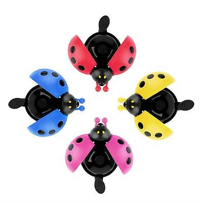 Lovely Kid Beetle Ladybug Ring Bell For Cycling Bicycle Bike Ride Horn Alarm NK