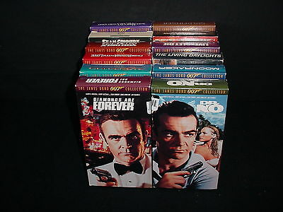 Lot of 12 James Bond 007 Action Video Tape VHS Movies Videos w/Boxes