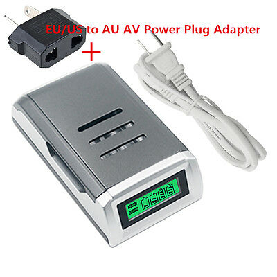 New 4 Slots LCD Smart Charger for AA / AAA NiCd NiMh Rechargeable Batteries NK