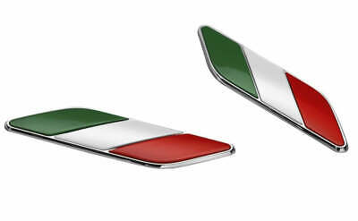 Fiat 500 Italian Flag Wing Badges Emblems Motifs  New and Genuine 50901681 PAIR