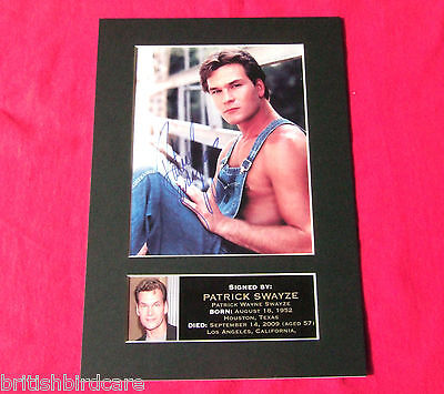PATRICK SWAYZE Mounted Signed Photo Reproduction Autograph Print A4 4