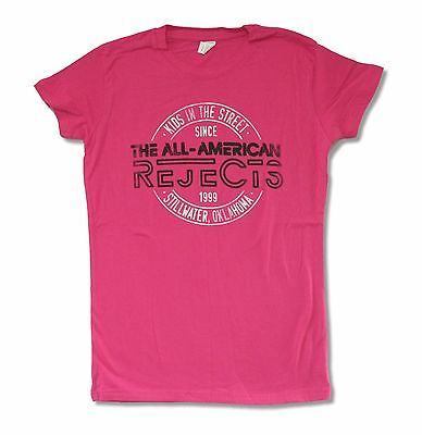 All American Rejects Stamp 2012 Tour Pink Juniors Girls T Shirt Gives You Hell
