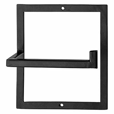 Bloomingville Modern Matte black Metal Toilet Paper Holder Black