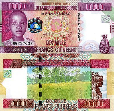 GUINEA 10000 Francs Banknote World UNC Currency Money BILL Africa Note p46 2012