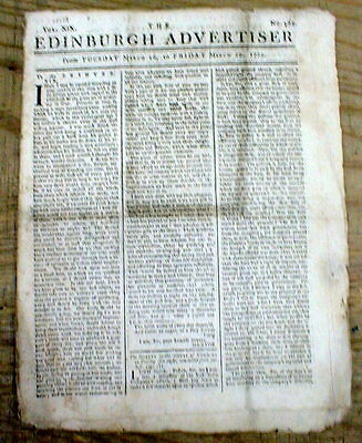 1773 British newspaper RED TAX STAMP during YEAR of the BOSTON TEA PARTY Rev War