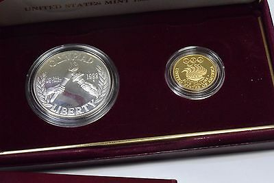 1988 US Mint Proof Olympic Coin Set Real Solid Gold & Silver Coins